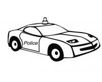 Полицейская спортивная машина Раскраски машины для мальчиков