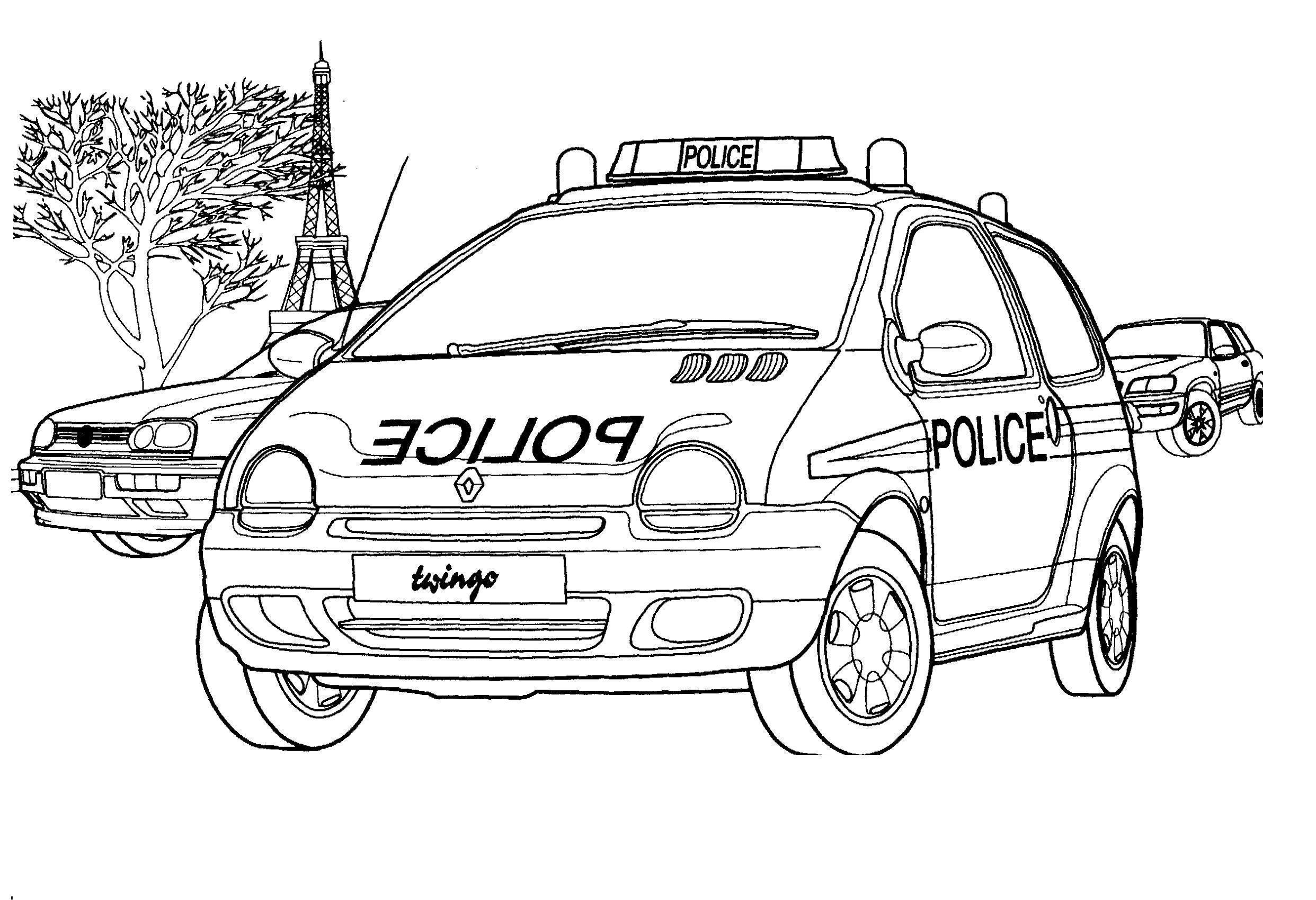 Полиция франции рено Раскраски машины для мальчиков