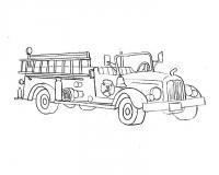 Старая пожарная машина Раскраски машины