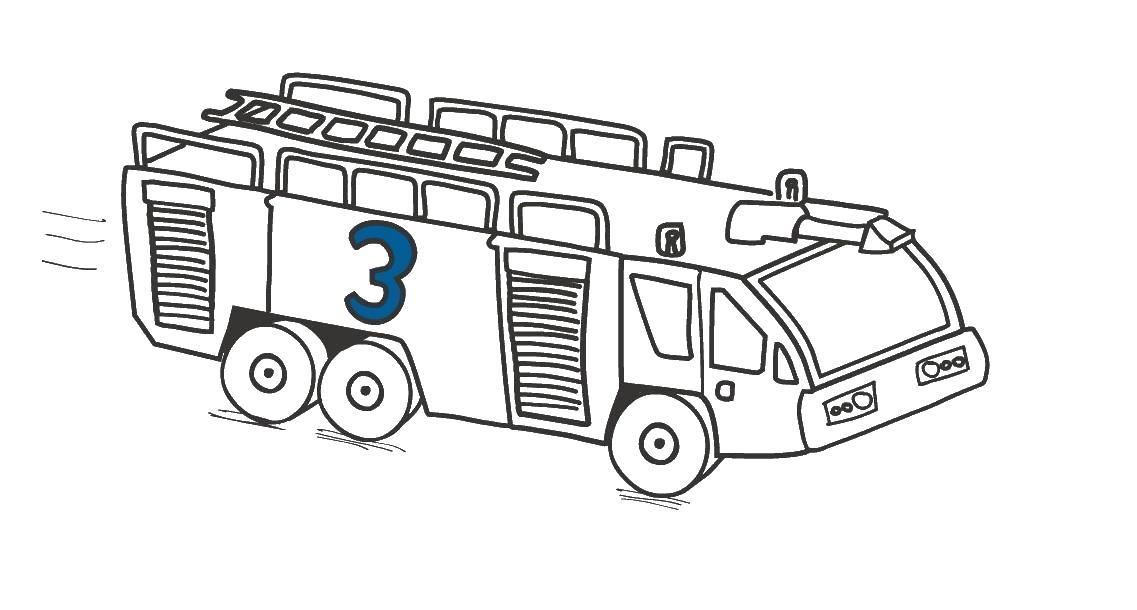 Пожарная машина Раскраски машины бесплатно