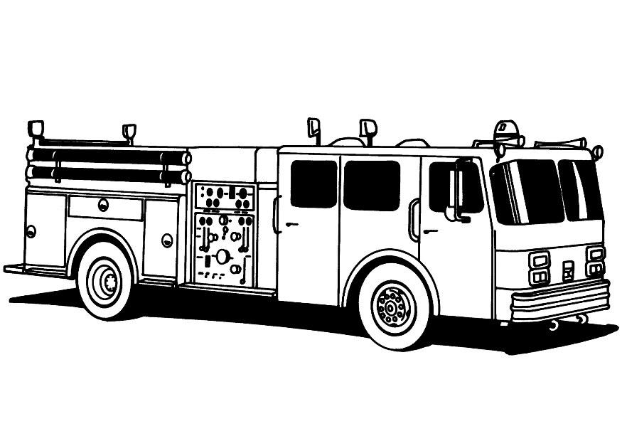Огромный пожарный грузовик Раскраски машины бесплатно