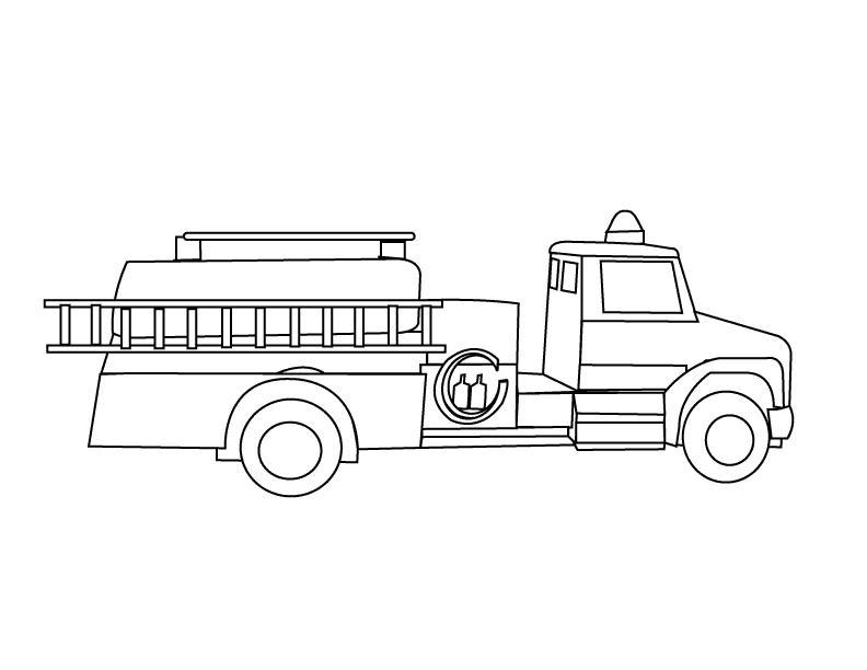 Пожарная машина с лестницей Раскраски машины