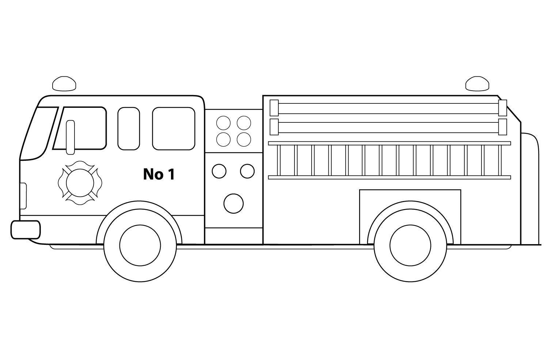 Пожарная машина номер 1 Раскраски машины бесплатно