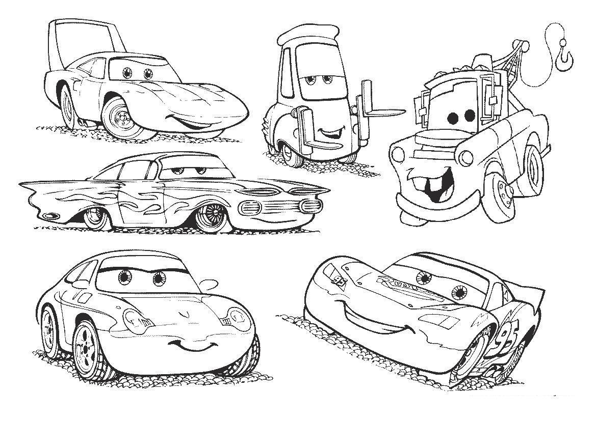 Все машины из мультфильма тачки 2 Раскраски машины