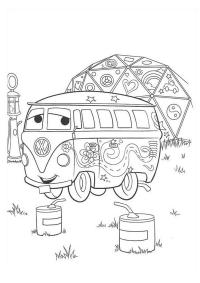 Тачки 2 на пикнике Скачать раскраски для мальчиков