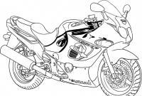 Мотоцикл сузуки Раскраски машины