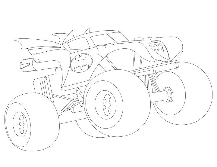 Автомобиль бетмена машины супер героев Картинки раскраски машины