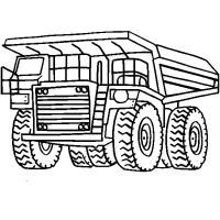 Белаз огромный грузовик Скачать раскраски машины