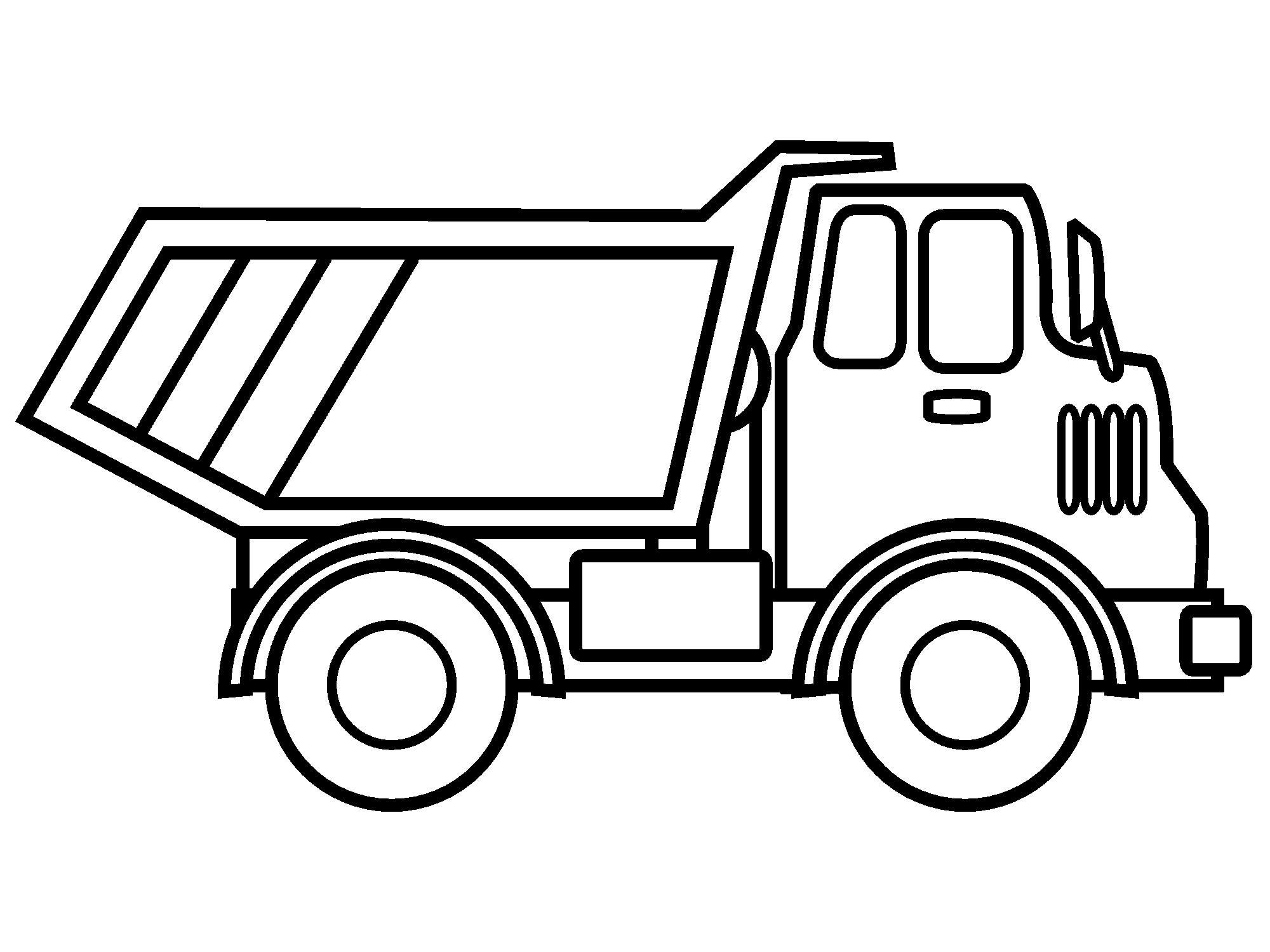 Отличная раскраска грузовик Скачать раскраски для мальчиков
