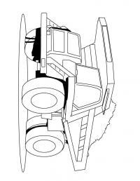 Грузовик на 500тонн Скачать раскраски машины