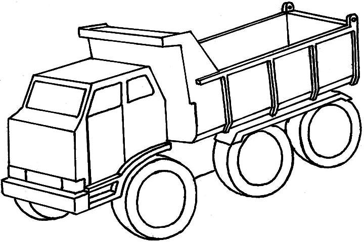 Мощный тяжелогрузный автомобиль Скачать раскраски для мальчиков